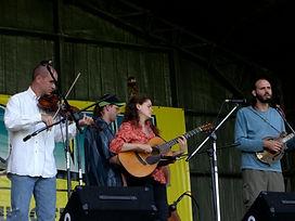 at Jomeoke Festival, North Carolina, Tara Linhardt, Rex McGee, Danny Knicely, David Knicely, live, concert, guitar