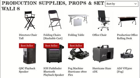 Production Supplies, Props & Set Walls