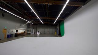 Studio 1 white cyc + Green Screen