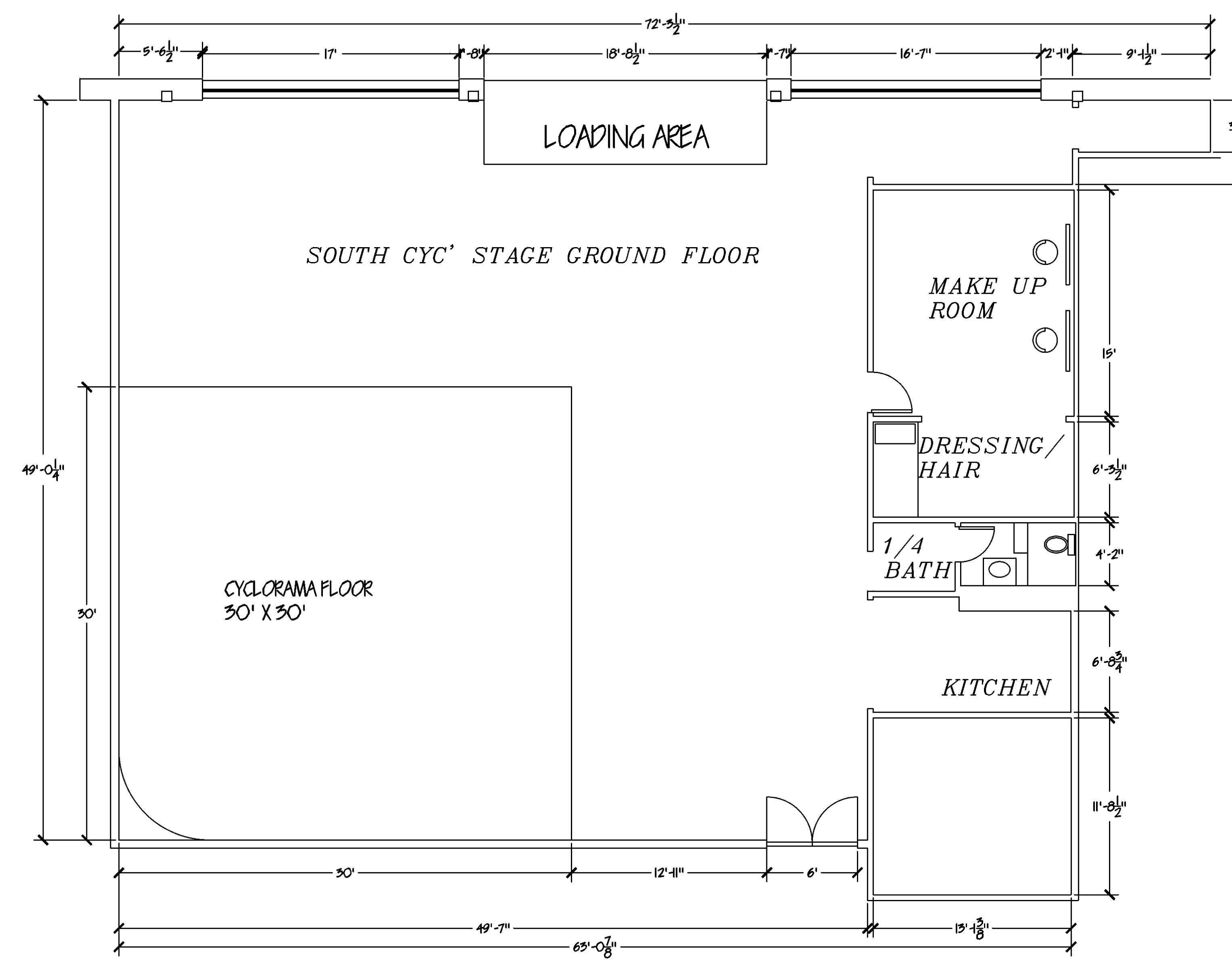 South Cyc Stage floor plan