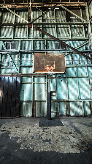 Industrial Basketball Hoop