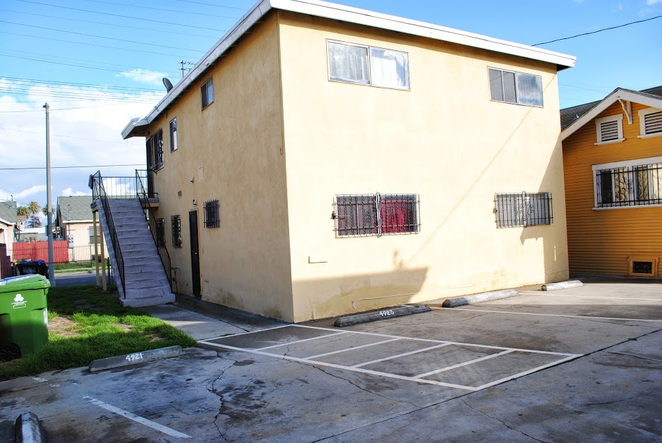 Apartment 3 Parking and Back View