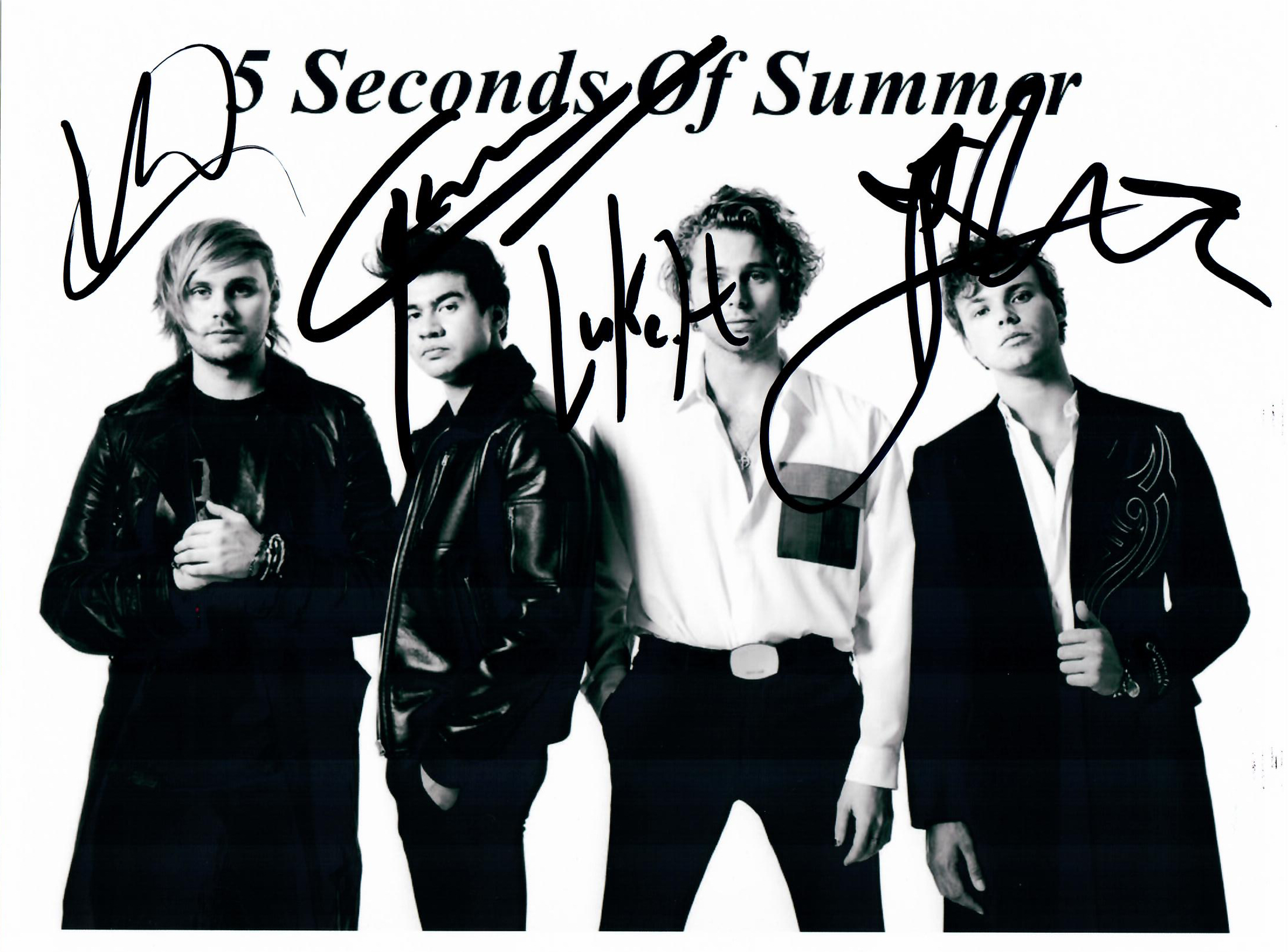 5 seconds of summer Autograph