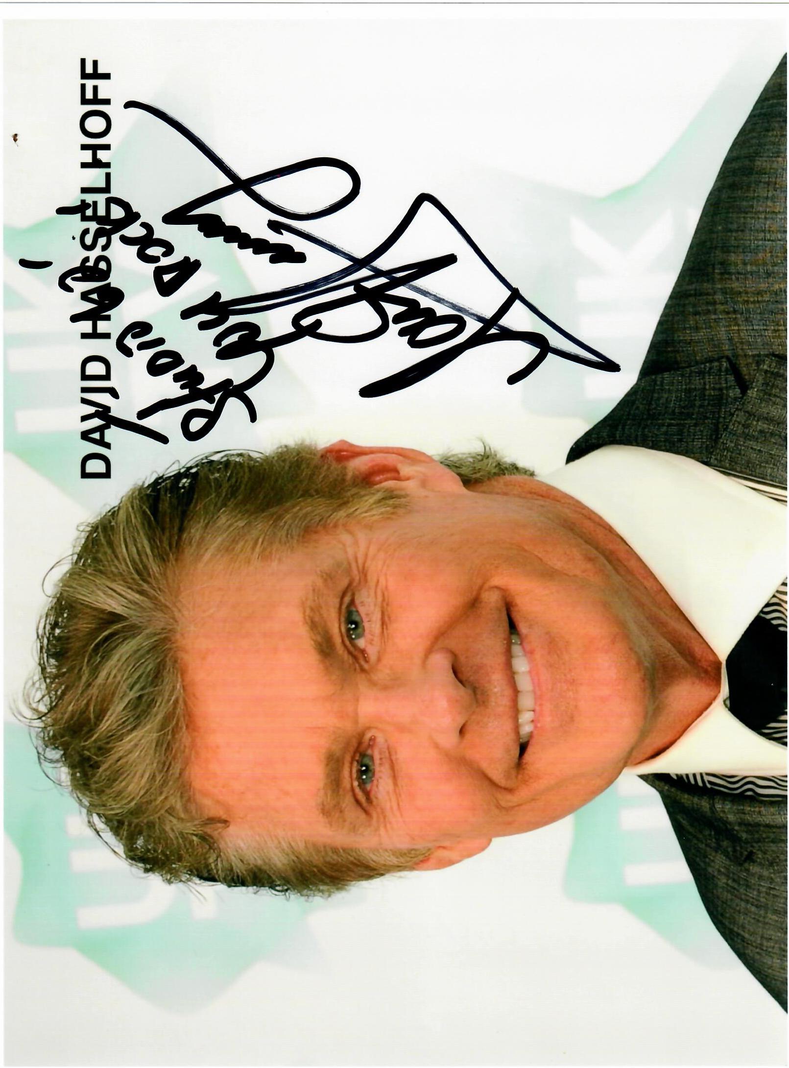 David Hasselhoff Autograph