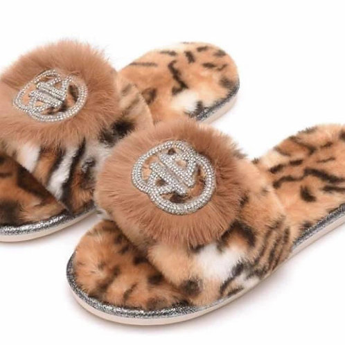 BLING SLIPPERS LEOPARD