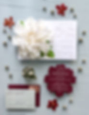 Boxed Floral Invitation Letterpress