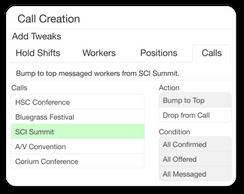 Call Creation Tweaks