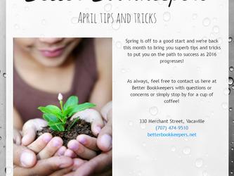 April Tips & Tricks
