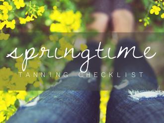 Your Springtime Tanning Checklist