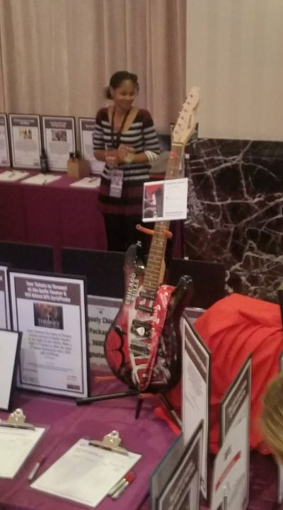 Chicago Bulls Guitar donated by Piano Trends Music & Band for Respiratory Health Association of Metropolitan Chicago at annual CHILL Chill C