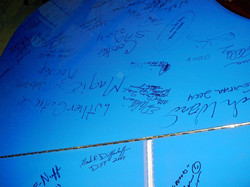 Blue autographed at the Chicago Blues Fest..