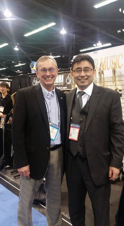 Great to see Paul at #namm he works with us to bring Breitenbach Band Instruments to Piano Trends Music and Band Company in Crystal Lake Ill