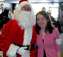 Santa Tony and Jen