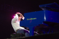 Emmy Nominee Arthur Hanlon on our Blue Piano at the UIC in Chicago
