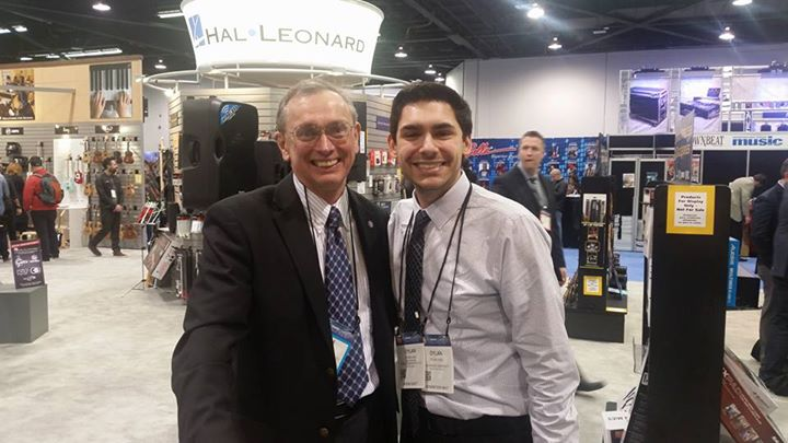 Tim and Dylan Ladd at NAMM