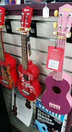 Ukuleles assorted colors only $29.95 til 5pm today at Piano Trends
