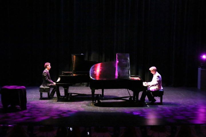 Danny Wright with Joey Garcher performing Somewhere in Time as a duet at conference's opening night