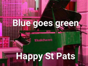 Blue Goes Green for St. Patty's Day