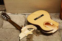 guitar fallen over