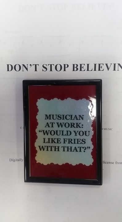 magnet with various music sayings