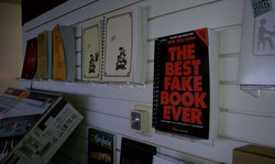 Great gifts on our Fake Book Wall