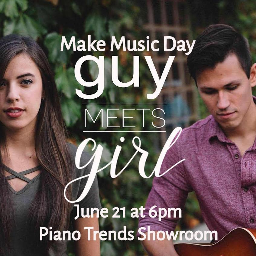 guy meets girl make music day