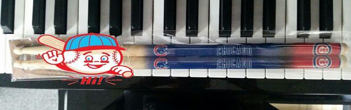 Chicago Cubs Drumsticks