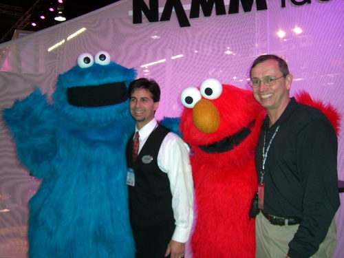 Cookie Elmo with Gary and Tim
