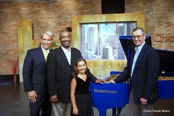 On the set of chicagoing with bill campbell__danny wright bill campbell emily bear blue piano and ti