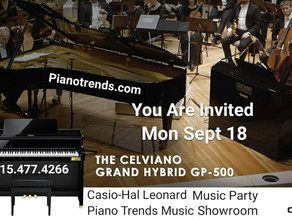 Casio-Hal Leonard New Music Party and Open House Sept 18