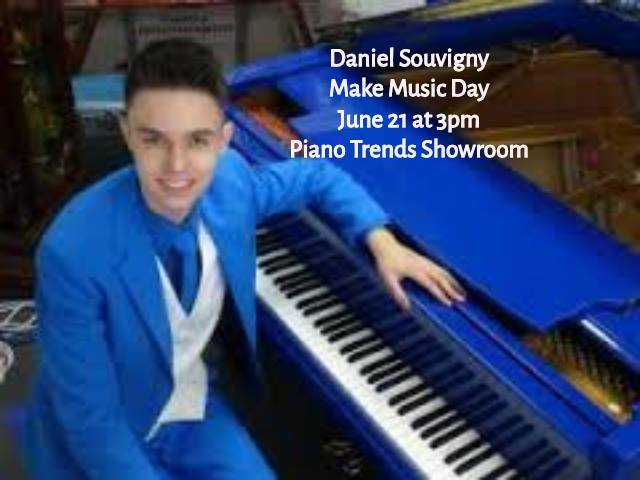 Make Music Day Lineup Announcement Daniel Souvigny You have seen him in concert at Raue Center and now stop by for the Free Music all day