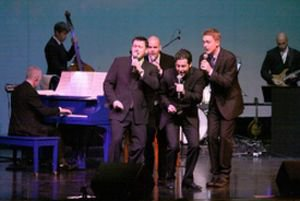 Jersey Boys performing with our famous Blue piano