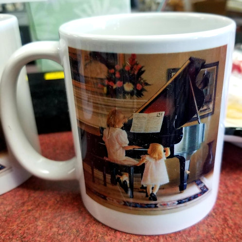 Coffee Music Mug - Sisters at Piano