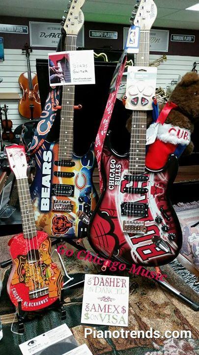 Chicago Team Guitars /straps/bags