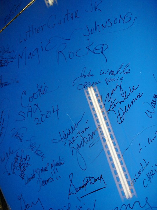 BluesFest Artists Signing the Chicago Blue Grand