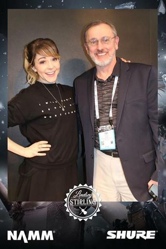 tim with Lindsey Stirling NAMM 2018