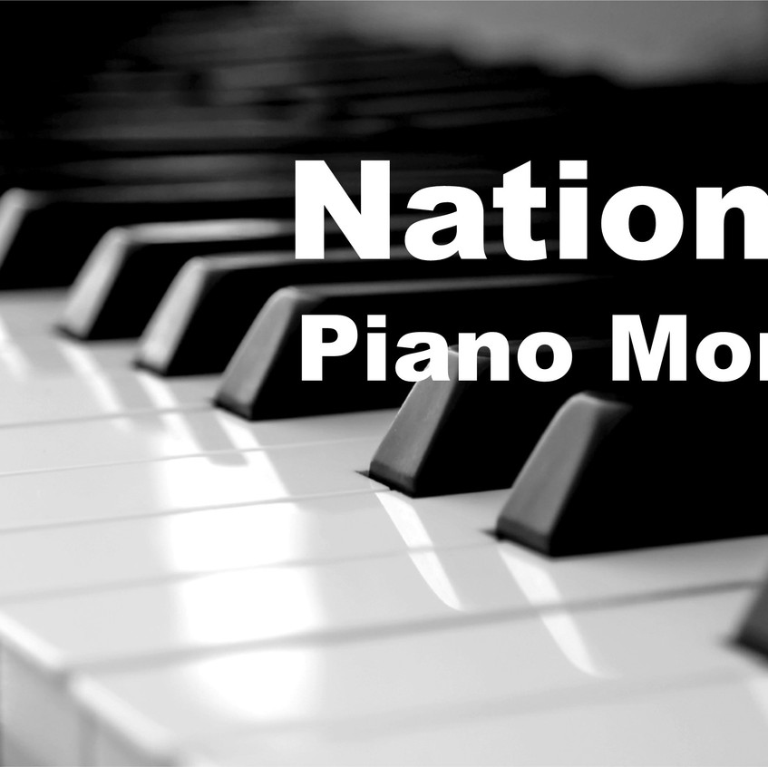 national piano month keys