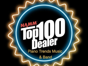 Piano Trends Music & Band Company Named one of NAMM Top 100 Dealers in the World