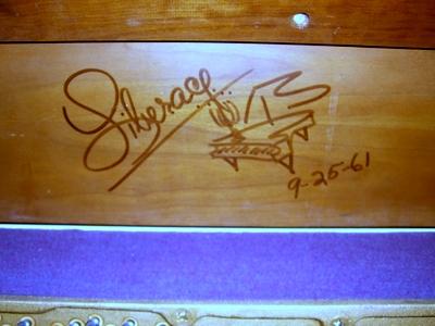 Liberace Signed Piano