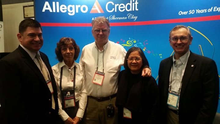 Our finance team at namm.  Allegro helps our clients afford pianos and other instruments with affordable financing options