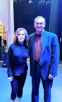 Great working with Bernadette Peters today during rehearsal for tonight's benefit concert for WTTW