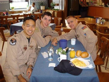 In Germany on our way home. Our deployment was spring/summer 2008.  Photo courtesy of JEREMY MOSELLE, Captain, USAF