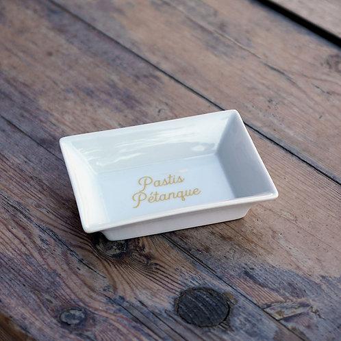 """Vide-poches porcelaine """"Pastis Pétanque"""""""