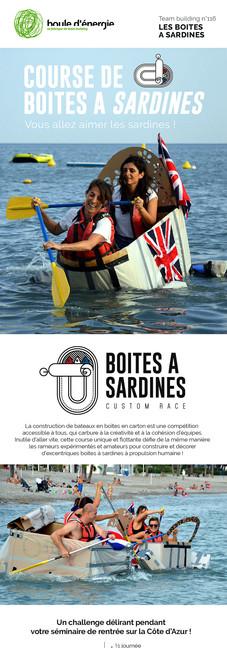Course de boite a sardines team building