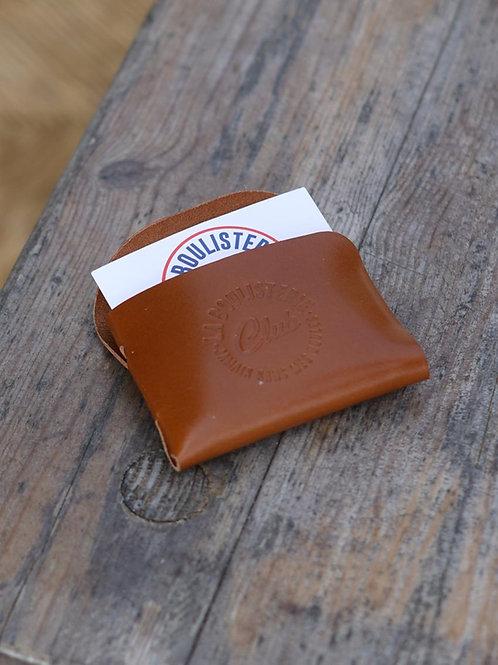 Porte cartes cuir marron - La Boulisterie x La Bouclée