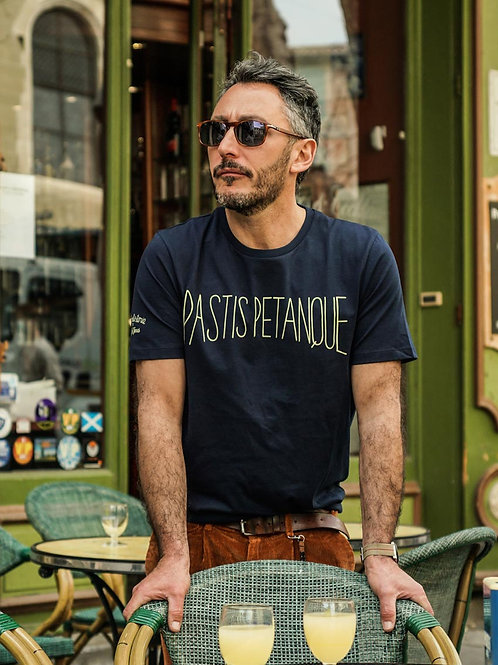 T-shirt Pastis Pétanque Marine - Jack & Jones x La Boulisterie