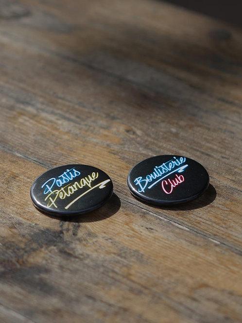 Lot de 2 badges - Les néons de La Boulisterie