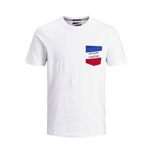 T-shirt de Pétanque Poche Tricolore - Jack & Jones x La Boulisterie