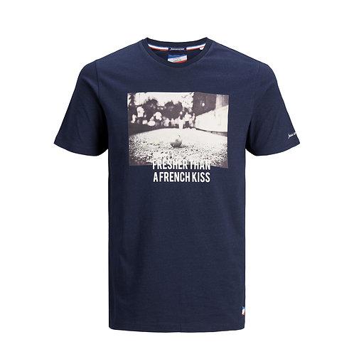 T-shirt Imprimé Photo Marine - Jack & Jones x La Boulisterie