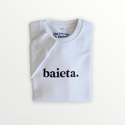 Baieta - Sweatshirt unisexe Blanc